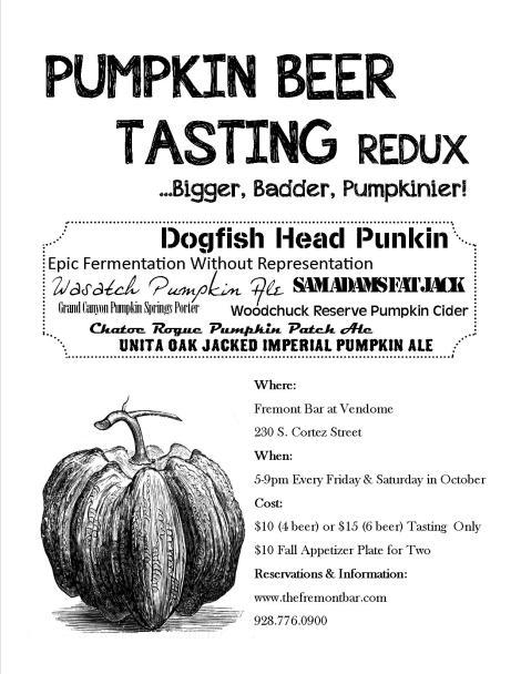 Pumpkin Beer Tasting... Redux 2013